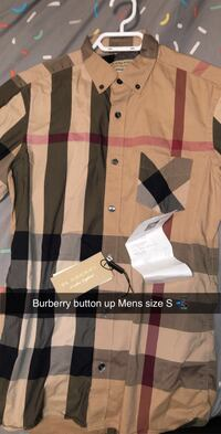 Burberry Mens button up Size S