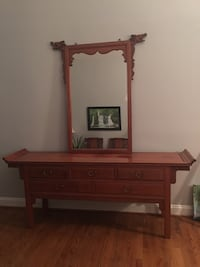 Authentic Rose Wood Furniture - dragon mirror and Chest Centreville, 20120