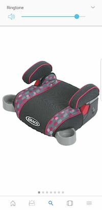 black and pink Graco backless booster seat Revere, 02151