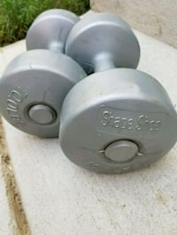 two gray fixed weight dumbbells Woodbridge, 22191