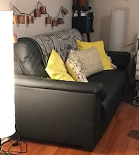 Black leather 3-seat sofa Coquitlam, V3E 3A9