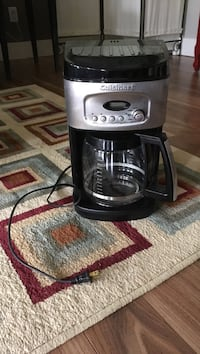 silver and black Cuisinart drip coffeemaker