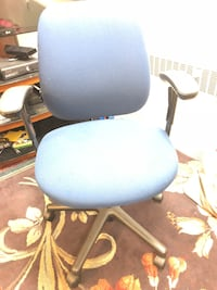Blue and black rolling armchair  Cohoes, 12047