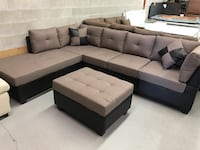 Brand new large brown fabric sectional sofa with storage ottoman warehouse sale  多伦多, M1R 4H2