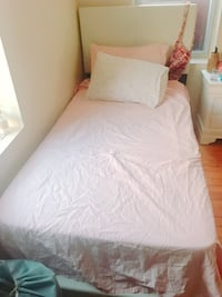 white Bed frame with box spring  New York, 11226