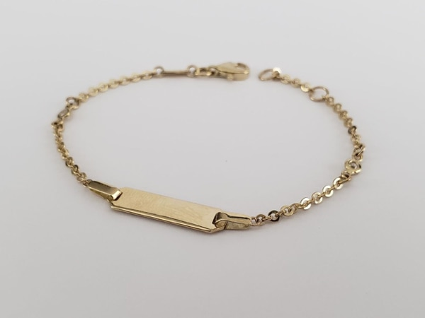 10k Yellow Gold Baby ID Bracelet 0