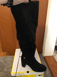 Black Over The Knee Boots size 8 Falls Church, 22042