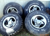 Set of 35X12.5X16.5 in. Off Road Tires $150 45 km