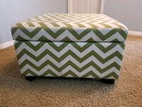 Striped Green Ottoman