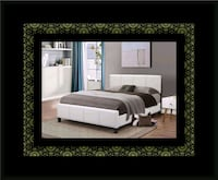 White platform bed with mattress and box all size Upper Marlboro, 20772