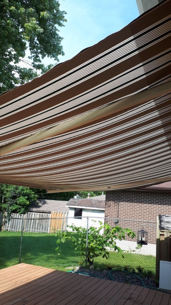 Awning 16 feet by 10  works well  7866a843-288d-4934-bf4d-2930c545d890