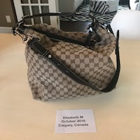 GG Hobo Canvas and leather bag Calgary, T2S 2H4