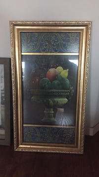 brown wooden framed painting of fruits 2280 mi