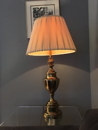 Solid brass Stiffel Trophy table lamp and original lamp shade -  Toronto, M2J 2Z7