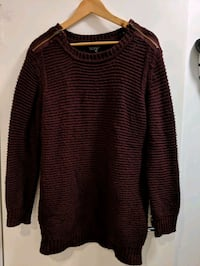 Topshop maroon sweater Vancouver, V6B