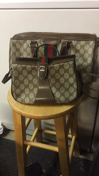 Brown and gray monogram gucci two way bag and duffel bag Sacramento, 95821