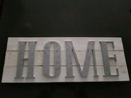 Wood Home sign decorative