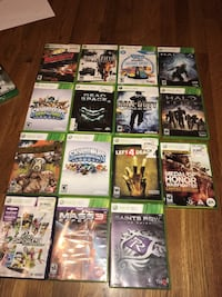 Assorted xbox 360 game