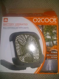 Battery operated fan with light Hyattsville, 20783
