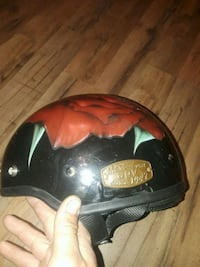 black and red half-face helmet Exeter, 18643