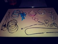 4 necklaces 3sets of bracelets 3 rings one is a Wichita, 67204