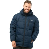 Trespass mens padded hooded jacket navy blue Lincolnshire, PE21 8NU