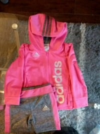 pink and grey ADIDAS zip-up hoodie  2 PIECE  Toronto, M4J 5A2