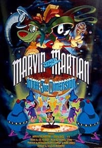 Marvin the Martin signed poster. Framed with COA. Washington, 20003