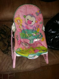 pink and green Fisher-Price bouncer Hammonton, 08037