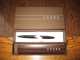 CROSS flounder ballpoint pen pure chrome