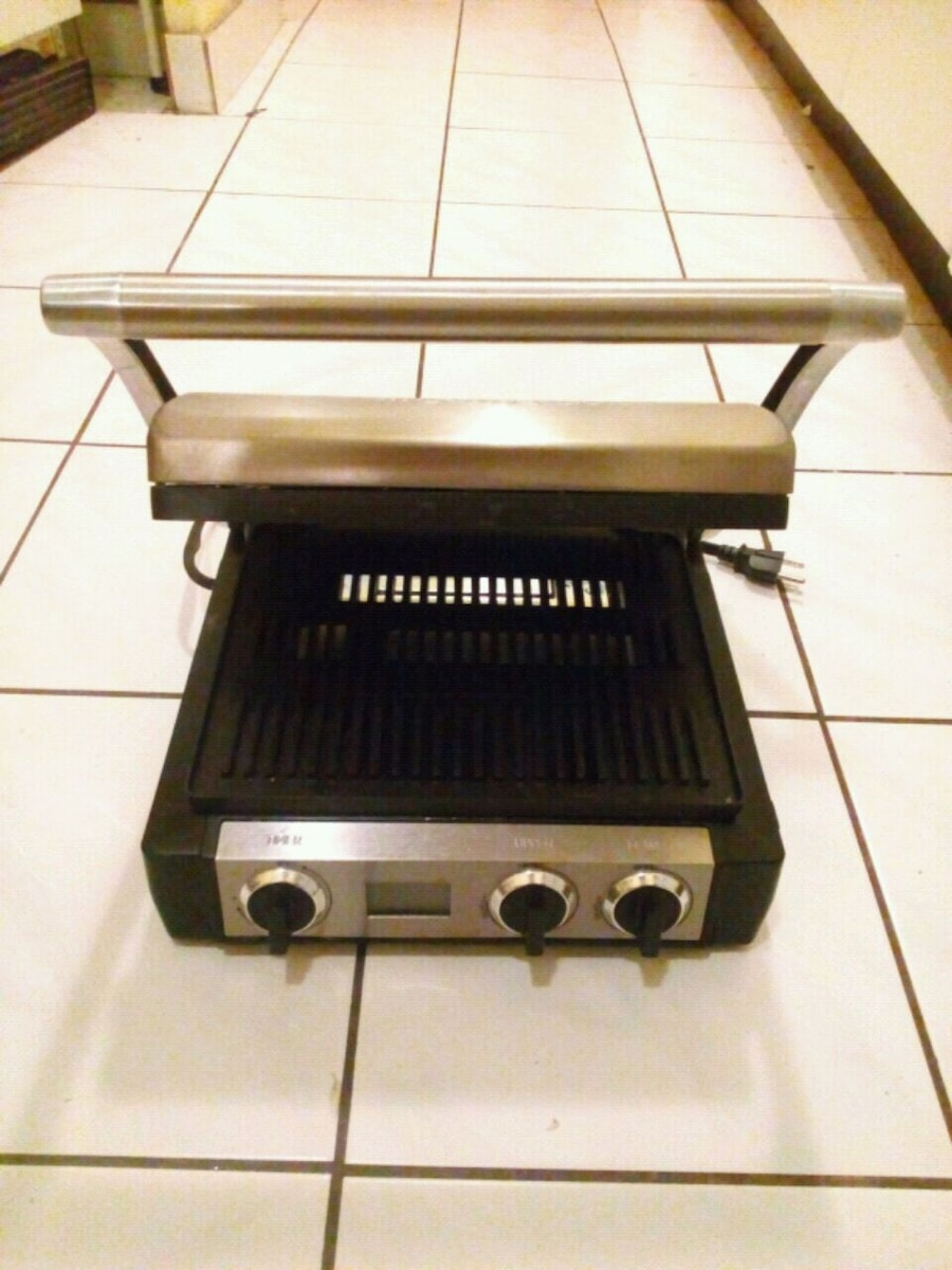 Used, silver and black grill press for sale  Mississauga