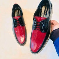 pair of red-and-black Louis Vuitton patent-leather lace-up dress shoes Bengaluru, 560055