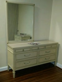 white wooden dresser with mirror Silver Spring, 20906