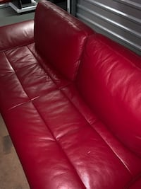 Red leather sofa  Hollywood, 33020