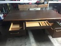 Solid Wood Office Desk and Chair
