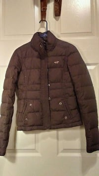 brown Abercombrie zip-up bubble jacket Langley, 74350