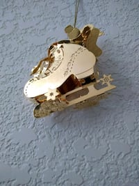 1993 Gold Skating Chipmunk Ornament Selah, 98942