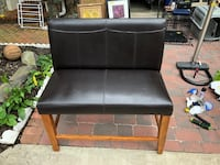 Brown leather bench seat Alexandria, 22304