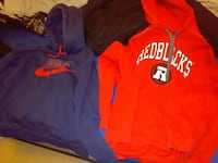 two blue and red pullover hoodies Carleton Place, K7C 3N6