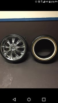 22 in. Rockstarr Rims $600 only New tires YOUNGSTOWN