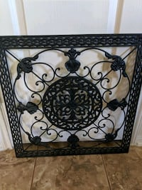 "gorgeous vintage iron wall hanging 23"" square Pearland"