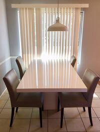 Scandinavian Designs - White Gloss Dining Table Los Angeles, 90064