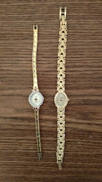 2 Fashion bracelet watches. Very pretty.