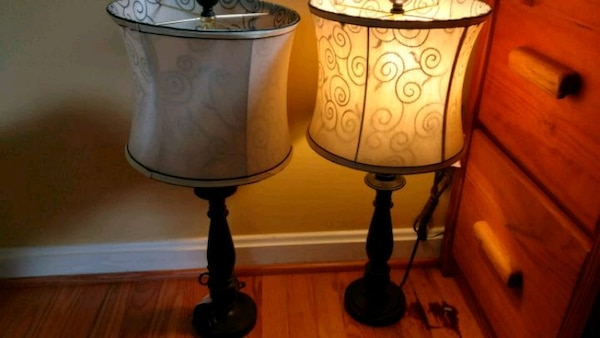 two base table lamps