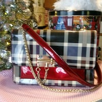 white and red plaid tote bag Citrus Heights, 95621