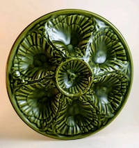 Casa Pupo Olive Drab Green Oyster Plate Made In Portugal Shelton, 06484
