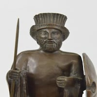 Cyrus the Great Persian King Kanaev Bronze Sculpture Marble Base Statue (14X5 Inches)