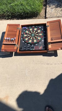 black and brown dartboard with cabinet Modesto, 95355