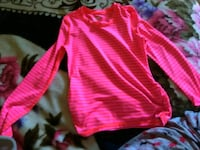 pink  stripe long sleeve shirt