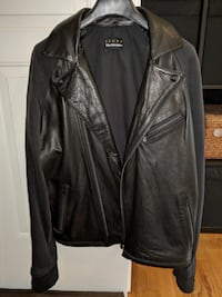 Leather jacket from The Kooples with detachable hood Richmond